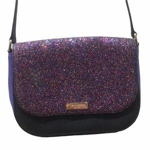 Kate Spade Glitter Purple Crossbody Purse Bag